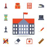 icona colorata dell'edificio scolastico Insieme dettagliato delle icone colorate di istruzione Progettazione grafica premio Una d illustrazione vettoriale