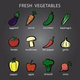 Icona colorata delle verdure illustrazione di stock