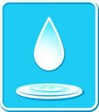 Icona con goccia e la spruzzata dell'acqua Fotografia Stock Libera da Diritti