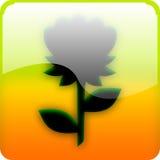 Icona con il fiore fotografia stock libera da diritti