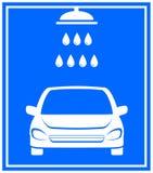 Icona con il lavaggio dell'automobile Fotografie Stock Libere da Diritti