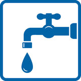 Icona con il rubinetto e la goccia illustrazione vettoriale