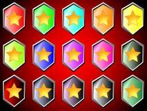 Icona con la stella illustrazione vettoriale