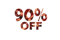 Icona con testo tagliato 90% fuori da un'immagine di un ciclo rosso del regalo fotografia stock