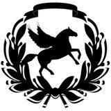 Icona con un horse-3 Fotografie Stock