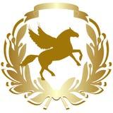 Icona con un horse-2 Fotografia Stock