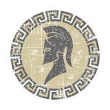 Icona consumata del guerriero nello stile di lerciume royalty illustrazione gratis