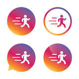 Icona corrente del segno Simbolo umano di sport Immagini Stock