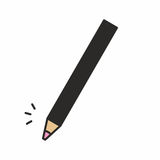 Icona cosmetica della matita di trucco Fotografia Stock