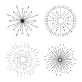 Icona creativa astratta di vettore di concetto degli sprazzi di sole per le applicazioni del cellulare e di web isolati su fondo  Fotografia Stock Libera da Diritti