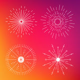 Icona creativa astratta di vettore di concetto degli sprazzi di sole per le applicazioni del cellulare e di web isolati su fondo  Fotografia Stock