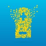 Icona creativa astratta di vettore di concetto della batteria per le applicazioni del cellulare e di web isolata su fondo Arte Immagini Stock