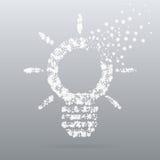 Icona creativa astratta di vettore di concetto della lampadina Immagini Stock Libere da Diritti