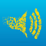 Icona creativa del punto Fotografia Stock Libera da Diritti