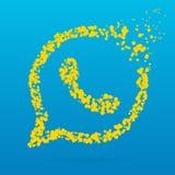 Icona creativa del punto Fotografie Stock