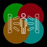 Icona creativa del solarium illustrazione dell'elemento illustrazione di stock