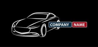 Icona creativa di vettore del nero di Logo Design dell'automobile, icona automatica di logo dell'automobile Logotype, logo automo illustrazione di stock