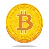 Icona cripto del bitcoin di valuta Illustrazione di vettore Fotografia Stock