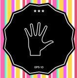 Icona d'aiuto della lenza a mano Immagini Stock