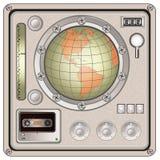 Icona d'annata del pannello di controllo Fotografia Stock