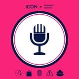 Icona d'annata di simbolo del microfono Immagini Stock Libere da Diritti