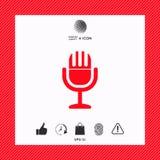 Icona d'annata di simbolo del microfono Immagine Stock Libera da Diritti