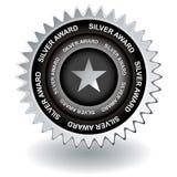 Icona d'argento del premio Fotografia Stock