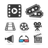 Icona d'avanguardia del cinema per progettazione Elementi di vettore Fotografia Stock Libera da Diritti