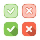 Icona d'avanguardia del segno di spunta per il web o l'interfaccia Fotografia Stock Libera da Diritti