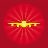 Icona d'avanguardia dell'aeroplano Fotografie Stock