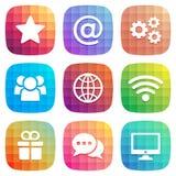 Icona d'avanguardia per il web ed il cellulare Elemento di vettore Immagine Stock