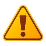 Icona d'avvertimento del segno di attenzione del pericolo Fotografia Stock