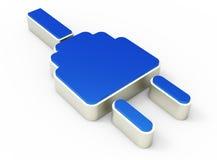 Icona 3D della spina elettrica Immagini Stock Libere da Diritti