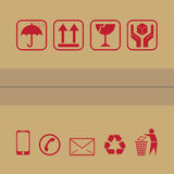 Icona d'imballaggio Immagini Stock