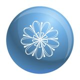 Icona decorativa del fiore, stile semplice illustrazione vettoriale