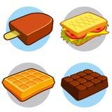 Icona degli alimenti a rapida preparazione e del dessert Immagini Stock Libere da Diritti