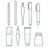 Icona degli strumenti di disegno Fotografie Stock Libere da Diritti
