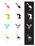 Icona degli strumenti di giardino (vettore)   Fotografie Stock Libere da Diritti