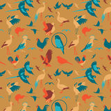 Icona degli uccelli degli animali Fotografia Stock