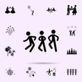 icona dei ballerini Faccia festa l'insieme universale delle icone per il web ed il cellulare royalty illustrazione gratis