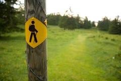 Icona dei camminatori fotografia stock