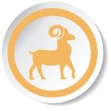 Icona dei cervi Fotografia Stock