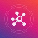 Icona dei collegamenti, simbolo di vettore di connettività Fotografia Stock Libera da Diritti