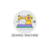 Icona dei dispositivi della famiglia della macchina per cucire Immagine Stock