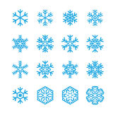 Icona dei fiocchi di neve Fotografia Stock
