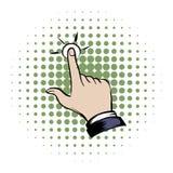 Icona dei fumetti della mano di clic illustrazione di stock