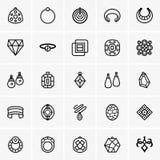 Icona dei gioielli Immagini Stock