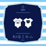 Icona dei pagliaccetti del bambino Elementi grafici per la vostra progettazione fotografie stock