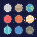 Icona dei pianeti del sistema solare Fotografie Stock Libere da Diritti