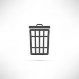 Icona dei rifiuti Fotografia Stock Libera da Diritti